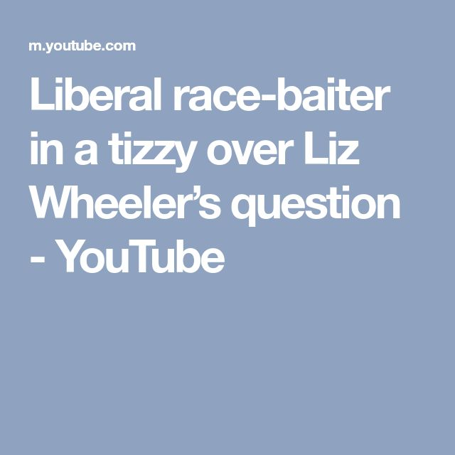 Liberal race-baiter in a tizzy over Liz Wheeler's question - YouTube