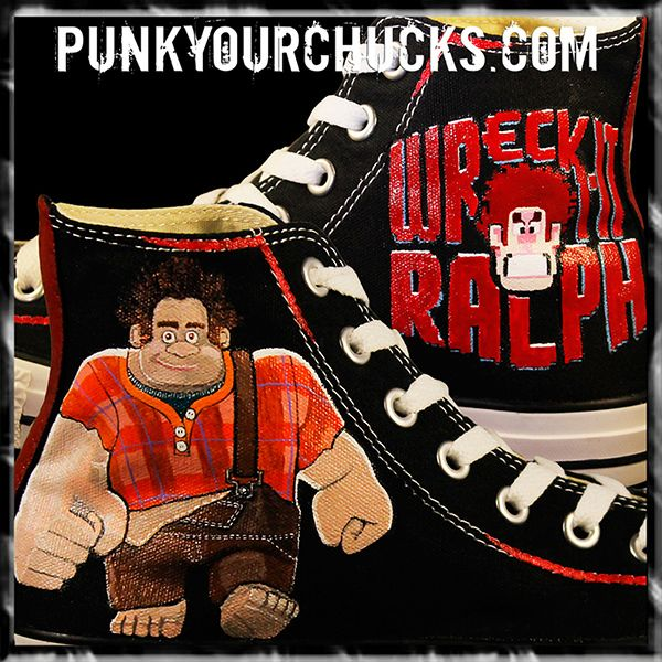 Sometimes don't you just wanna wreck it like Ralph?! If you have a favourite cartoon character that you would like to see on punk your chucks then let us know! #wreckitralph #Disney #sugarrush #chucks #converse #conversemurah #chucktaylors #allstar #sepatuconverse #jualconverse #converseallstar #converselow #conversehigh #chucktaylor #converseori #vans #converseoriginal #conversechucktaylor #コンバース #jualconversemurah #converseindonesia #sepatuconversemurah #conversehighmurah #conversect2