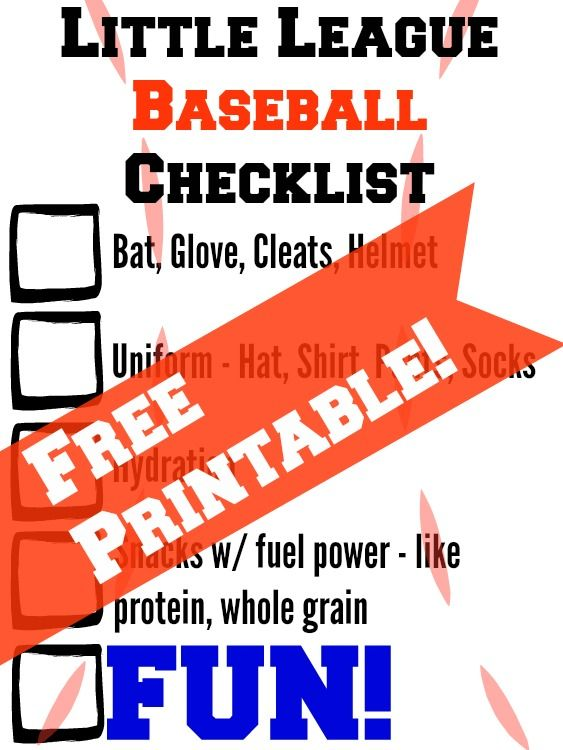 Little League Baseball Essentials + FREE Printable (sponsored)
