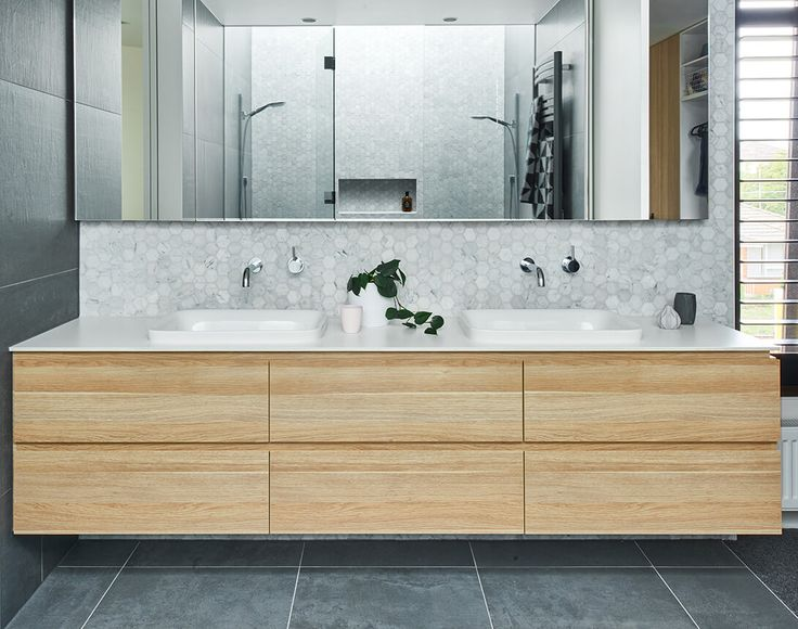 Love the basin and the floating vanity and wall hung cabinet