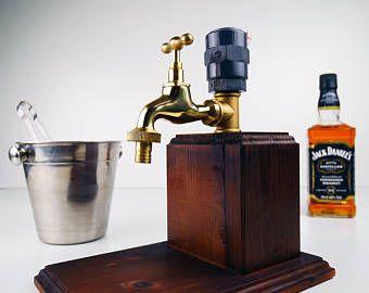 Handmade Wooden alcohol dispenser / Summer Gift / liquor dispenser / whiskey dispenser, mens gift, anniversary gift, wedding gift, M-B
