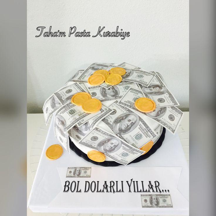 Dolar temalı pasta