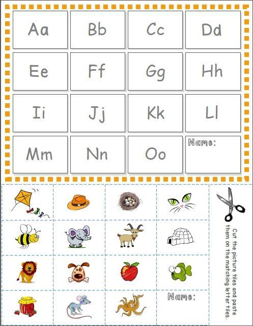 Alphabet Cut & Paste Activity