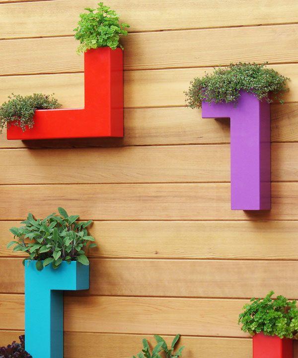 Colorful Wall Planters Add A Little Razzle Dazzle.