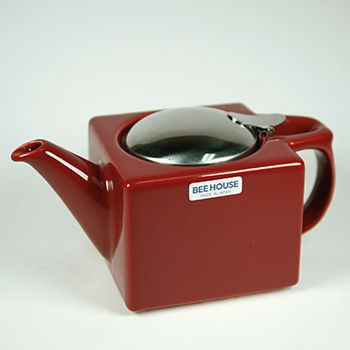 A modern variation on a traditional design. Bee House teapots will give you years of service. The vibrant colors will just enhance your enjoyment.