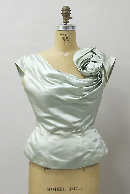 Evening blouse (image 1) | Charles James | American | 1951 | silk | Metropolitan Museum of  Art | Accession Number: 2013.296