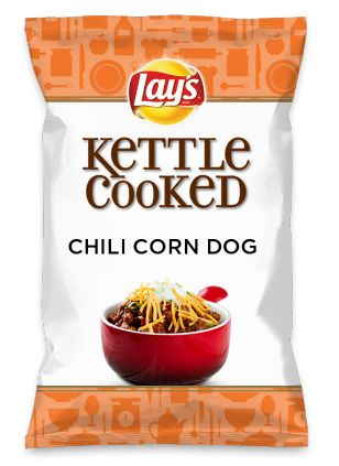 Wouldn't CHILI CORN DOG be yummy as a chip? Lay's Do Us A Flavor is back, and the search is on for the yummiest chip idea. Create one using your favorite flavors from around the country and you could win $1 million! https://www.dousaflavor.com See Rules.
