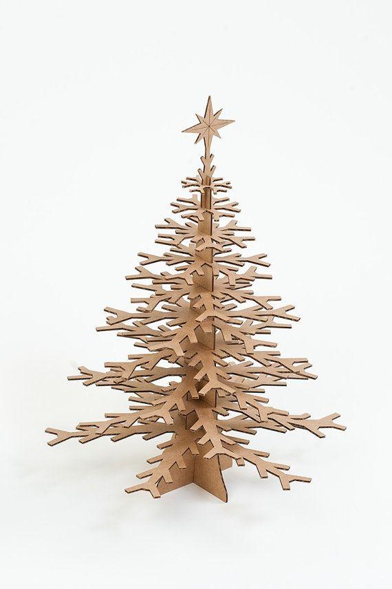 Copo de nieve cartón árbol decoración superior por CardboardSafari