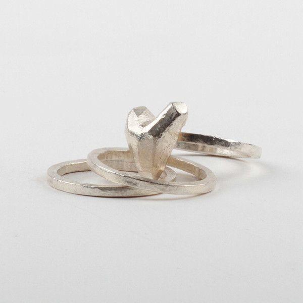 Heart On The Hand Ring Set | DARKBLACK $265 NZD