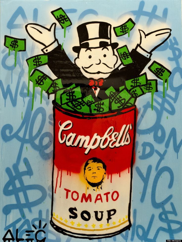 I love Alec Monopoly's work. They make good expensive touches to your walls.