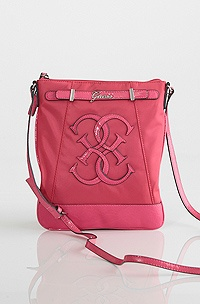 Guess Mural Mini Crossbody, Coral