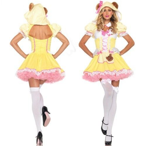 ==> [Free Shipping] Buy Best Yellow panda Halloween Cosplay costumes maid Party clothing Christmas outfit role playing Fancy dress Online with LOWEST Price | 1353474743