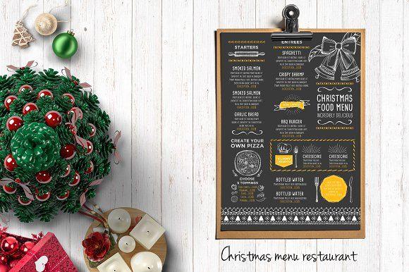 Food menu, restaurant flyer #19 by BarcelonaShop on @creativemarket