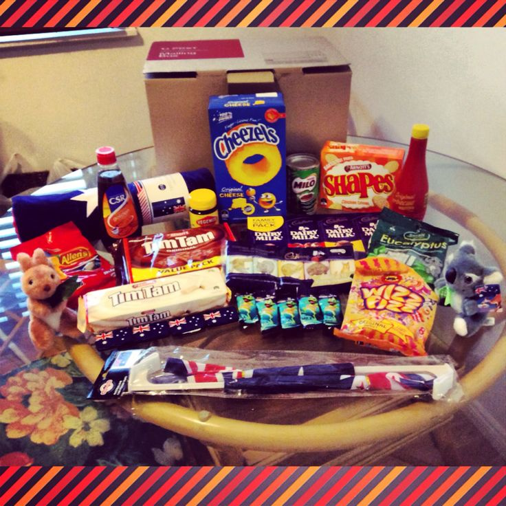 I made an Aussie care package for my Uncle and cousins in the United States as a special surprise