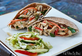 Click and Cook Recipes:  Thai Peanut-Sauce Chicken Pitas
