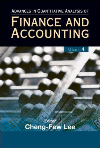 I'm selling Advances in Quantitative Analysis of Finance and Accounting, Vol 4 by Cheng-Few Leeby - $35.00 #onselz