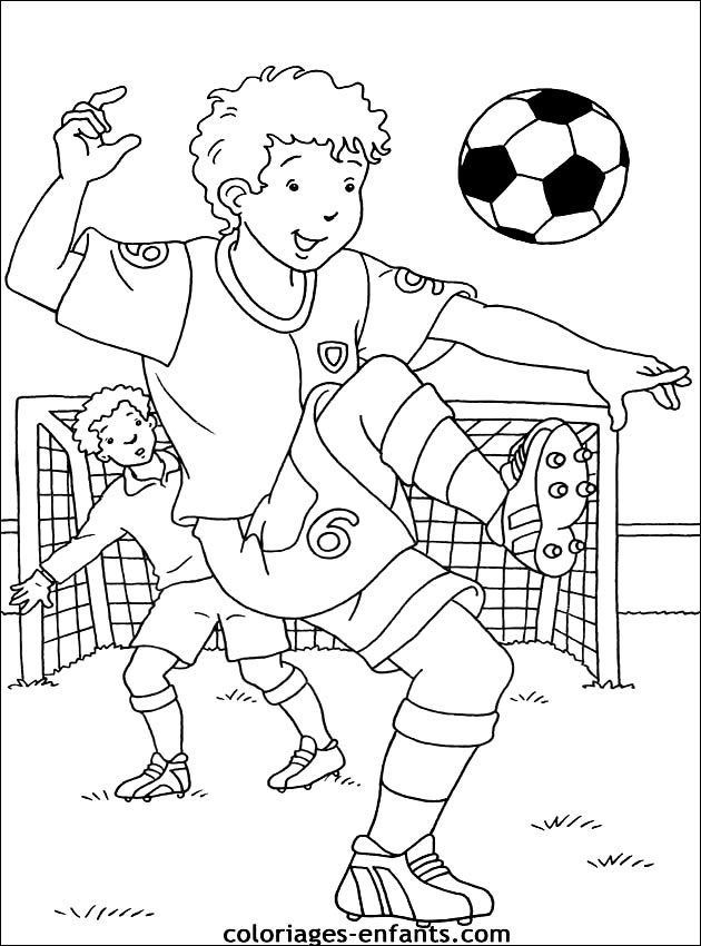 Coloriage De Foot A Imprimer In 2020 Football Illustration Coloring Pages Colouring Pages