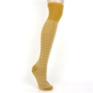 Catherine Tough Lambswool Gold & White Stripe Wellies Socks [Misc.] - http://on-line-kaufen.de/mcgovern-home/catherine-tough-lambswool-gold-white-stripe-misc