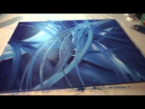 Full HD abstract painting Sony Alpha 6000, abstract painting demonstration, acrylic painting – YouTube