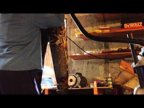 Repairing holes in neoprene duck hunting waders - YouTube