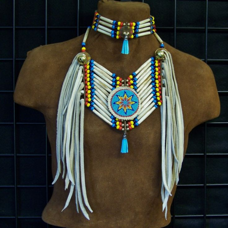 Vintage sterling native american fetish necklace carved mother of