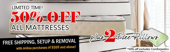 Up to 50% off mattresses every day; what are you waiting for? http://www.drsnooze.com/blog/