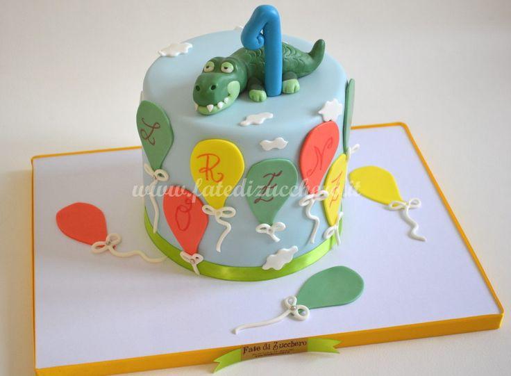 Torta Coccodrillo per il Primo Compleanno     Fate di Zucchero - Cake Designers