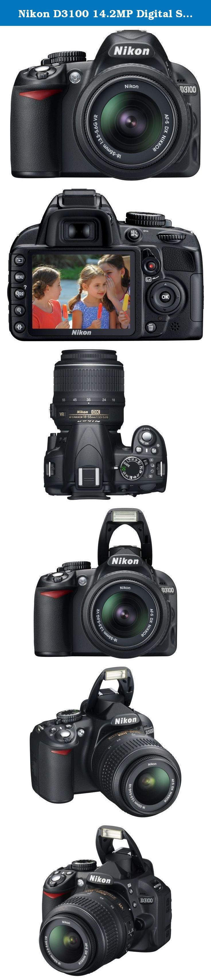 Nikon D3100 14.2MP Digital SLR Camera with 18-55mm f/3.5-5.6 VR & 55-200mm f/4-5.6G IF-ED AF-S DX VR Nikkor Zoom Lenses. Proudly Nikon-branded, the Nikon Digital SLR and laptop backpack was designed specifically for DSLR photographers on the go. There's well-organized space for a digital SLR body, up to five interchangeable lenses, a laptop computer, and other essential accessories. A rigid, impact-resistant base protects the contents from moisture and toppling, while the…