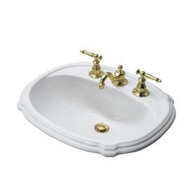 KOHLER Portrait White Drop In Oval Bathroom Sink with Overflow Overall  Width Inches 8 best Sinks images on Pinterest