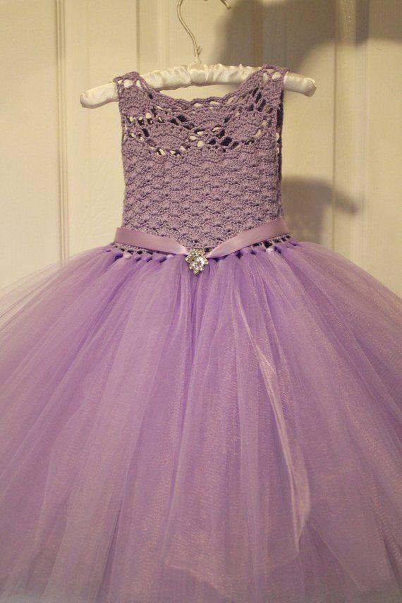 05024c387 Tutu DressPurpleTutu DressLavender Tutu DressFlower Girl | Etsy ...