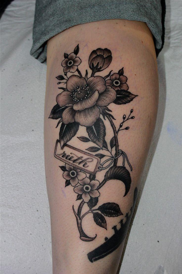 318 best tattoo images on pinterest wonderland tattoo tattoo white and black flowers tattoo design dhlflorist Images