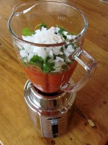 Easy Salsa Recipe With Canned Tomatoes  using rotelk and stewed tomatoes.