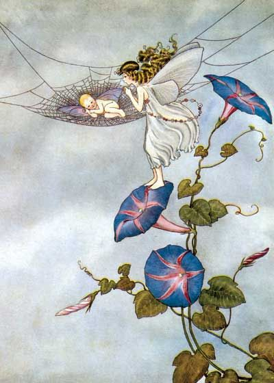 Fairy and Fairy Baby | Anytime Greeting Cards. Illustrator: Ida Rentoul Outhwaite