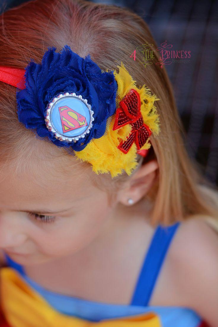 supergirl inspired headband, superman inspired headband, superhero headband by 4theprincessboutique on Etsy