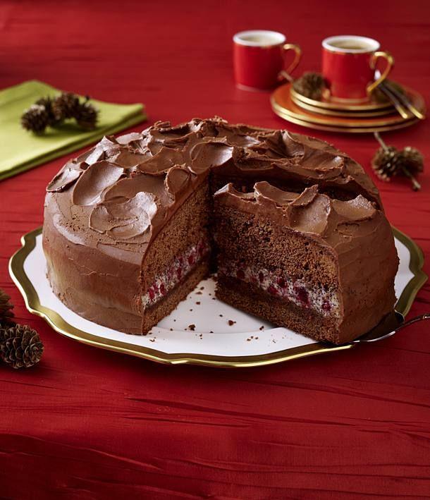Schoko Mohn Torte Mit Mokka Ganache Rezept Weihnachtskuchen Rezepte Weihnachtskuchen Und Kuchen Und Torten Rezepte