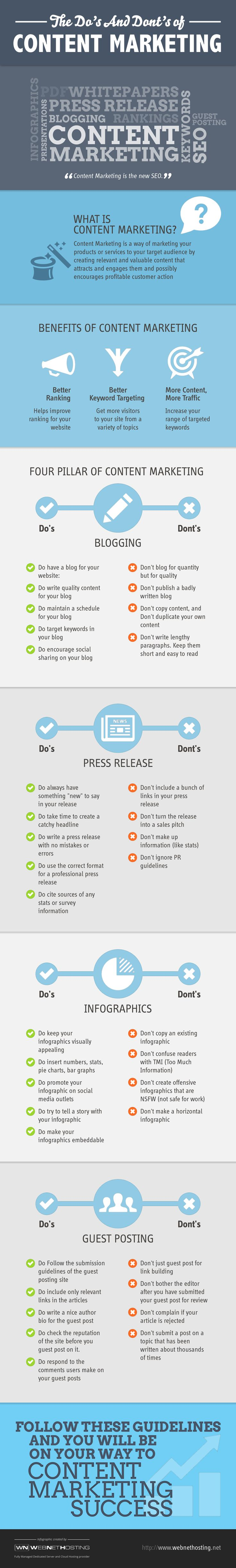 The do's and don'ts of content marketing  #contentmarketing #marketing #infographic