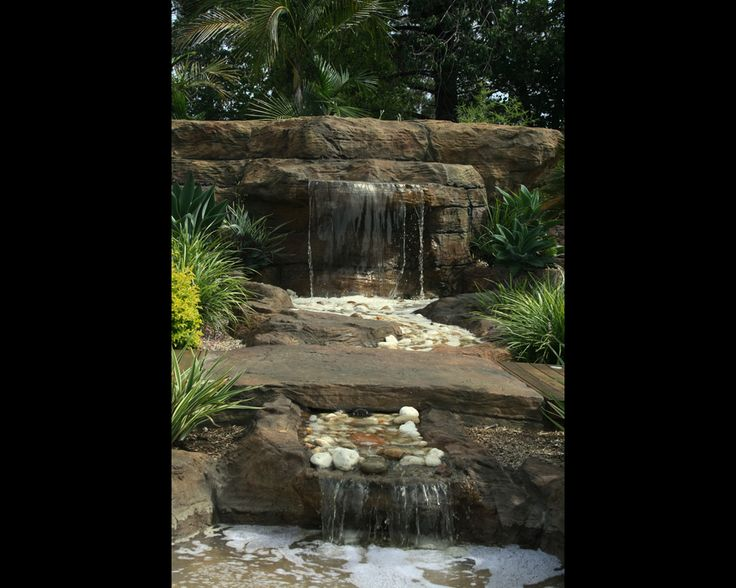 17 best images about artificial rock waterfalls on for Artificial fish pond