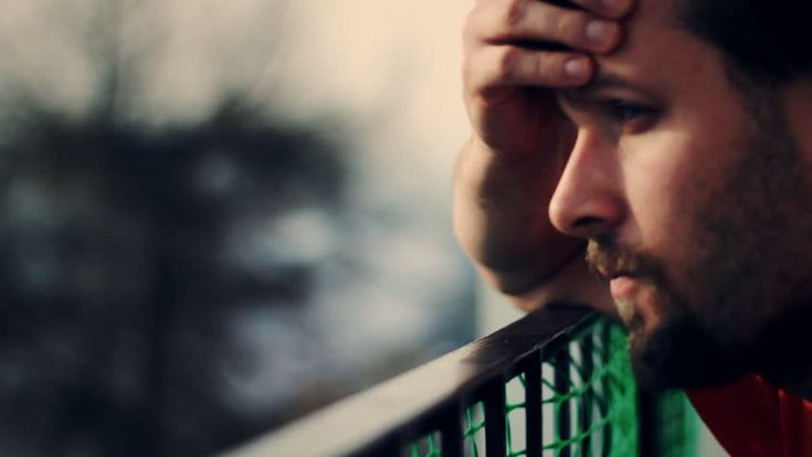 Sad Man On The Patio, Face Closeup Stock Footage Video 958441 - Shutterstock