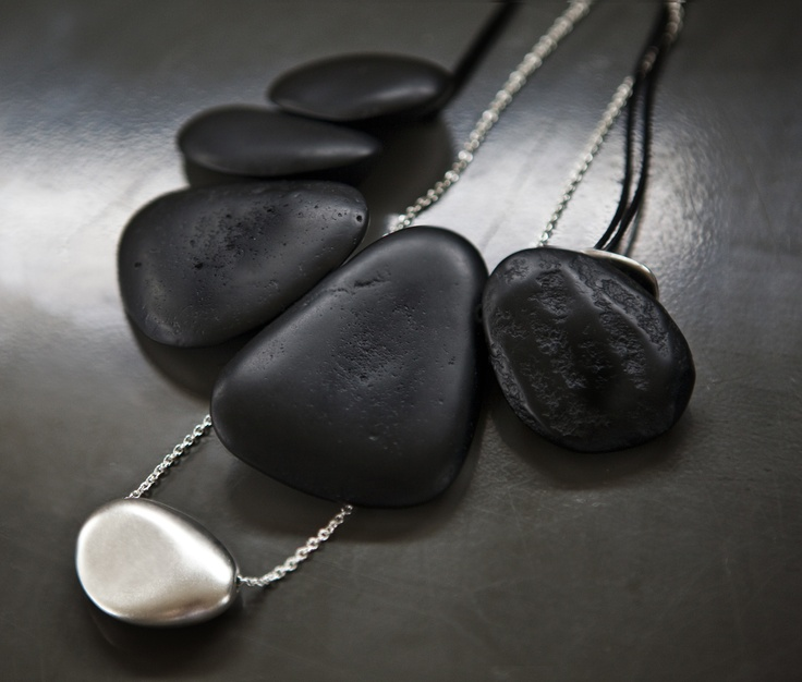Dinosaur Designs The Art of Black & White 2013 Resin and Silver Jewellery