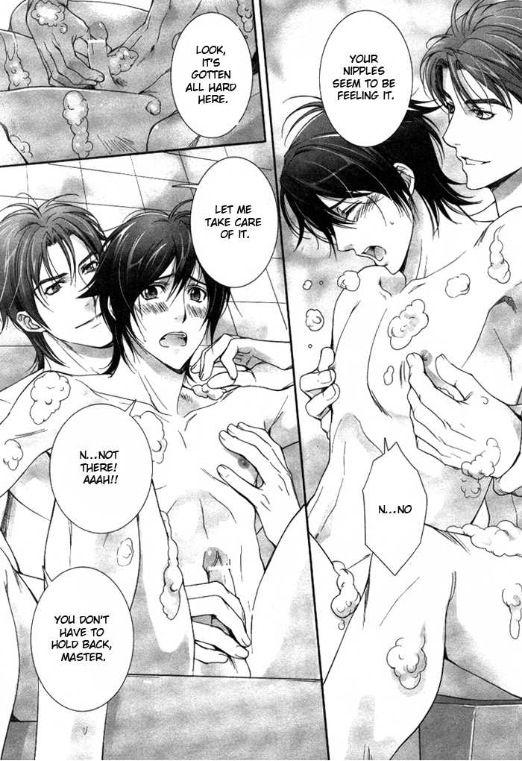Takatsuki Noboru Yaoi Okusan no Mousouteki Nichijou Oku X Sudou Bath Bubbles Nipple-play