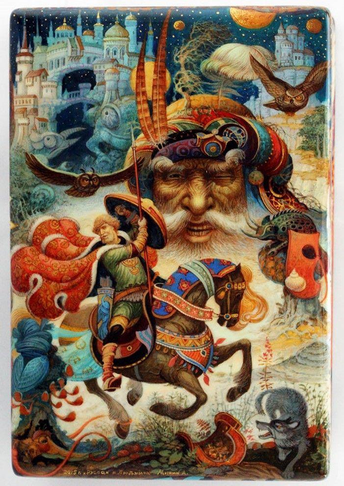 Minin, Mstera lacquer box, Ruslan and Lyudmila, 1