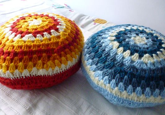 Round cushions tutorial