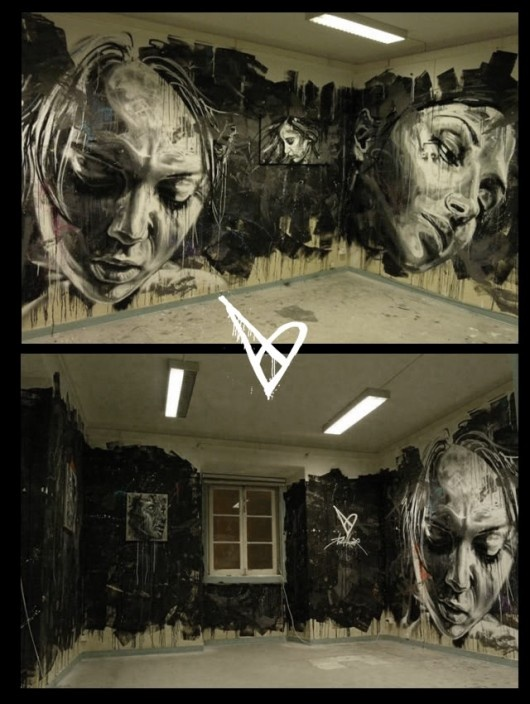 Urban Street Art - Vhils and David Walker