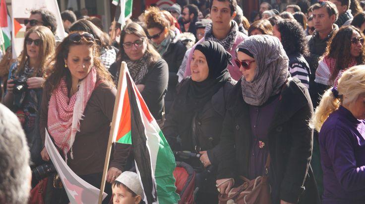 Marcha contra la guerra en Medio Oriente.