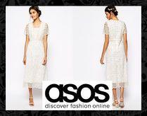아소스 레이스 맥시 드레스 화이트 ASOS Lace Maxi Dress White