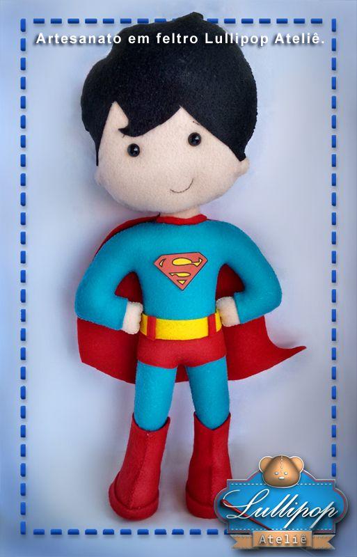 Super homem - Artesanato em feltro Lullipop Ateliê. By Elaine Cristina Braga