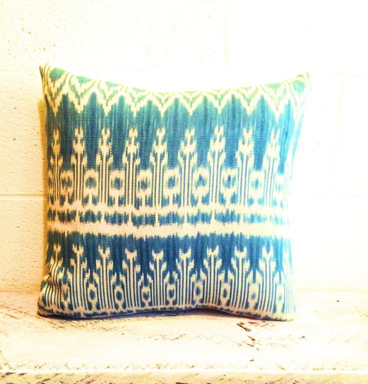 Authentic Hand loom 100 % cotton throw pillow. Fair Trade.  hopeandtwine.com
