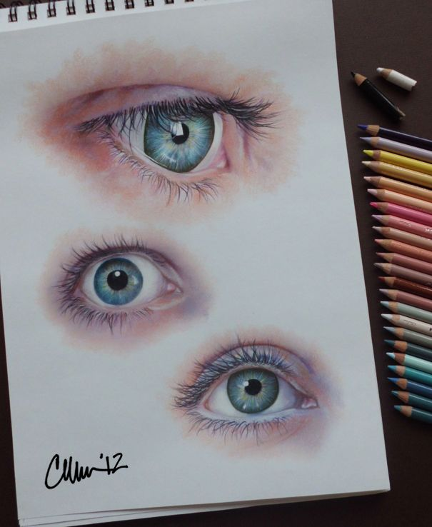 (Eyes - Study Drawings  by Live4ArtInLA on deviantART)   I deff miss doing this...need to get my act together and get back to it