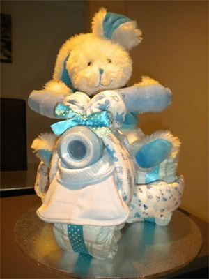 Unique Baby Gifts Nappy Cake- Baby Boy Nappy Trike