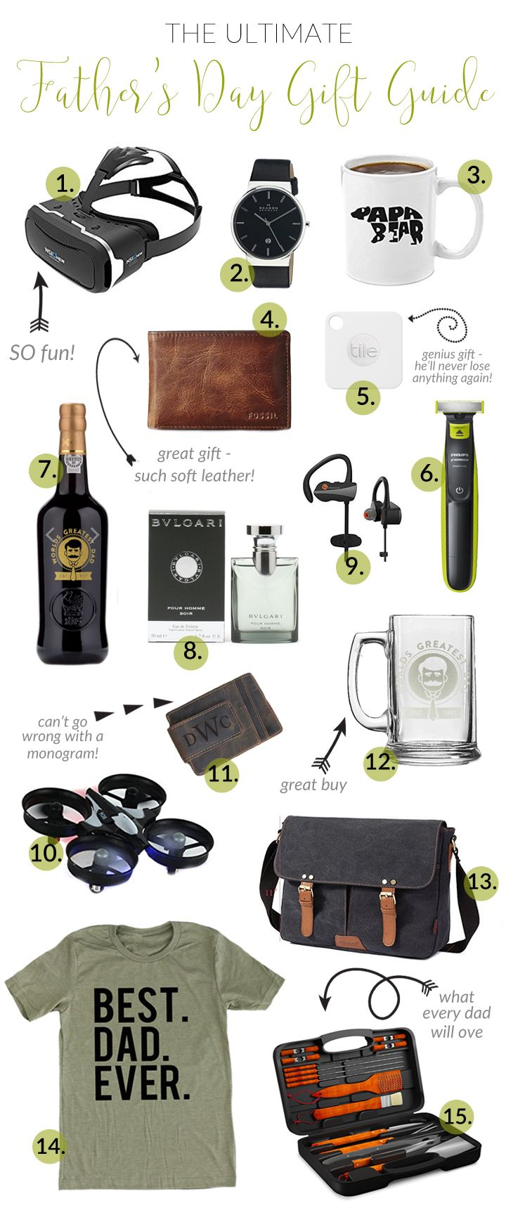 Easy Gift Ideas for Father's Day! There's something for EVERY Dad on this list!